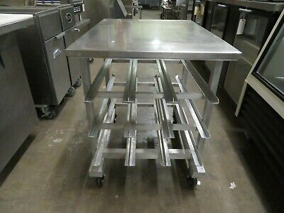 New Age 1235 Can Storage Rack, Mobile, Counter Height, Stainless Top