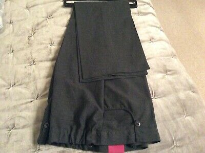 Bnwt Girls School Trousers Age 16-Grey-Tu-Straight Leg/Plus Fit-1 Pair Only