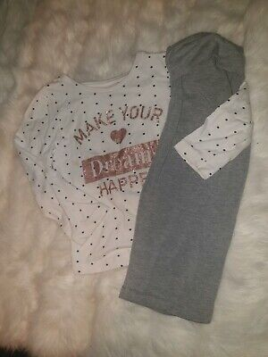 Girls 3-4 Years Top Dots Hearts Trousers leggings outfit bundle Gap Next Day