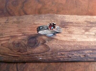 Lovely Post Medieval Tudor Or Stuart Ring With Glass Stone-Metal Detecting Find