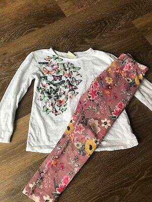 Zara Girls Age 6 Leggins And Top Set