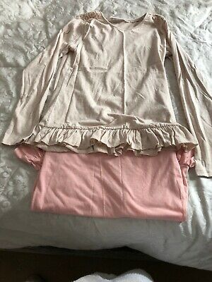 Girls Long Sleeved Tops In Pink And Cream From Matalan Age 12-13 Bnwot