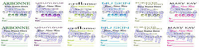 Gift Vouchers 24 Arbon Younique Oriflame NuSkin Mary Kay PERSONALISED PRINTING