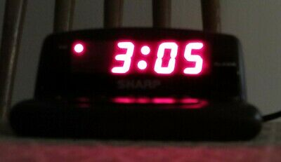 Genuine Vintage Sharp (SPC026) Small Wired Alarm Clock With Battery Backup