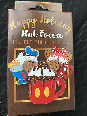 Disney Parks Happy Holiday Hot Cocoa Mystery Box 2X LE Pin In Hand