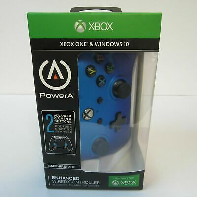 New PowerA Enhanced Wired Controller for Xbox One & Windows 10 - Sapphire Fade