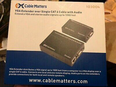 Cable Matters VGA over cat6 Extender 1000   --  NEW IN BOX