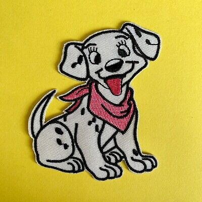 Disney 101 Dalmatians Girl  Puppy Dog  Embroidered Appliqué Patch Sew / Iron On