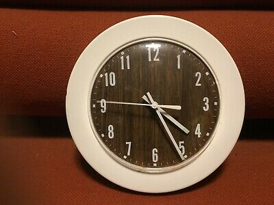 Rare Mid Century Modern 1960s White Metal Junghans Germany Lic. Ato Wall Clock
