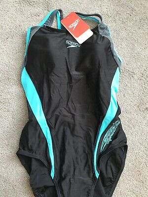 Speedo swimming costume size 18/40 black and blue Brand New with Tags