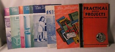 The DELTAGRAM-Wood Pattern Booklets-19 Vintage Booklets-Delta MFG.-WOW!