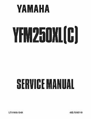 Yamaha service workshop manual 2001 BEAR TRACKER YFM250XN