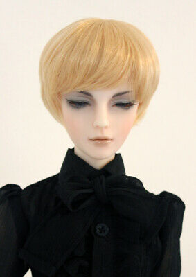 """1//3 bjd 8-9/"""" doll blonde real mohair wig vintage braid style dollfie SD Luts"""