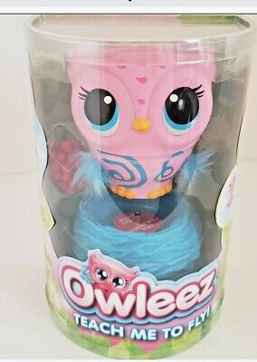 Pink Owleez Interactive Flying Baby Owl Lights Sounds Nest Helicopter Toy