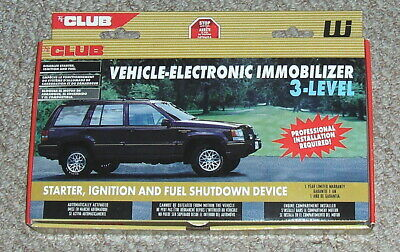 CLUB VEHICLE-ELECTRONIC IMMOBILIZER Car Starter~Ignition~Fuel Shutdown Device