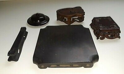 Antique Chinese Old Hardwood Finely Carved 5  Stand Lot Fantastic Display L@@K