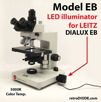 LED retrofit Kit with dimmer for older LEITZ  DIALUX EB 20 microscopes.