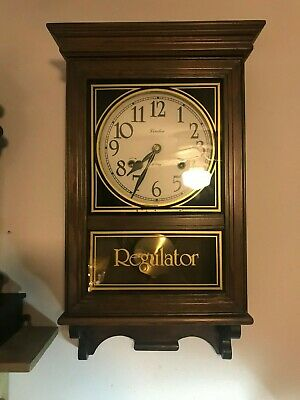 Linden 31 Day Regulator Gong Chime Wall Clock