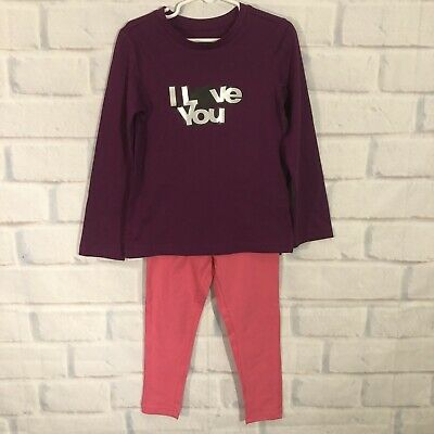 Toddler Girls 2-piece Outfit Size 4T Stretch Leggings, Long Sleeve Pullover Top