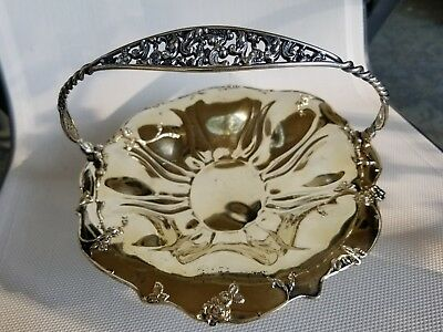 Pairpoint Mfg. Co. Quadruple Silver Plate Basket Handle Tray #1221 Signed