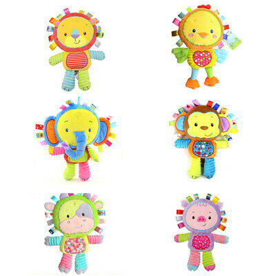 HAPPY MONKEY 1 baby toys rattles comfort dolls plush baby rattles toy anima Y2A3