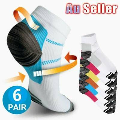 12PC Compression Socks Plantar Fasciitis Relief Foot Pain Sleeves Heel Ankle Sox
