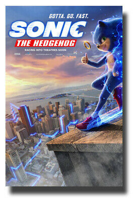 "Sonic The HedgeHog Poster Movie 11""x17"" 2020 Hedge Hog Roof USA SAMEDAY SHIP"