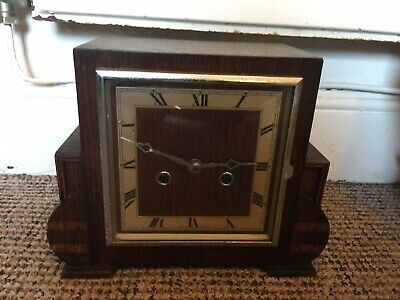 Enfield Vintage Chiming Wooden Clock. No Key