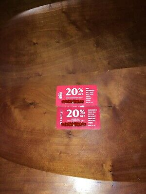Two REI 20% off coupons for REI members only.