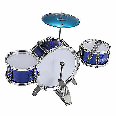 Children's Drum Set Kit Musical Instrument Toy for Kids with stool Play Set