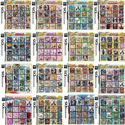 X00 in 1 Game Games Cartridge for Nintendo NDS NDSL NDSi 2DS 3DS 11.6Sys