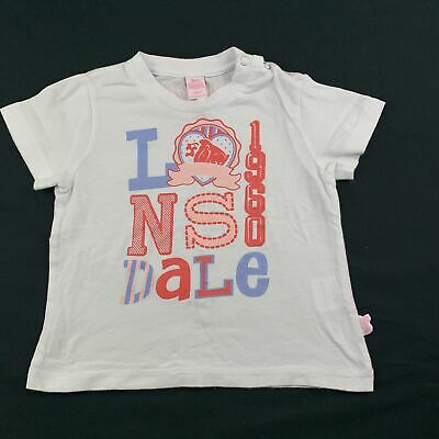 Girls size 0, Lonsdale, white cotton t-shirt / top, FUC