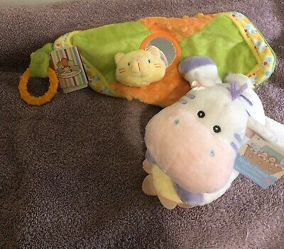 Set Of 2 Soft Toys For Baby - Musical Toy And Activity Blanket