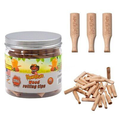 HONEYPUFF Honey Flavored 40MM Wood Rolling Filter Tips Smoking Wooden Mouth Tips