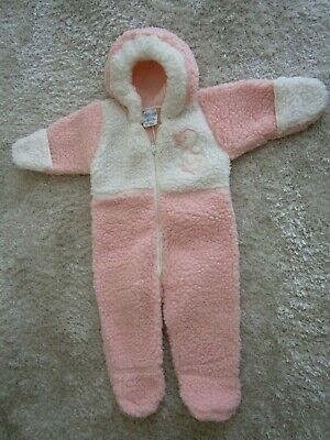 Mothercare Pretty Pink Baby Winter Body suit.  Made in UK