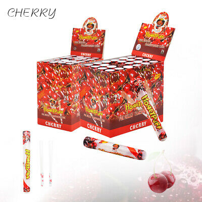 24Packs HONEYPUFF 78MM Cigarette Rolling Cones Cherry Flavored Papers Doob Tube