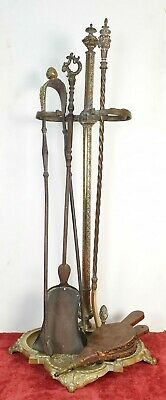Fireplace Game. Bronze And Forged Iron. Second Empire. Xix Century.