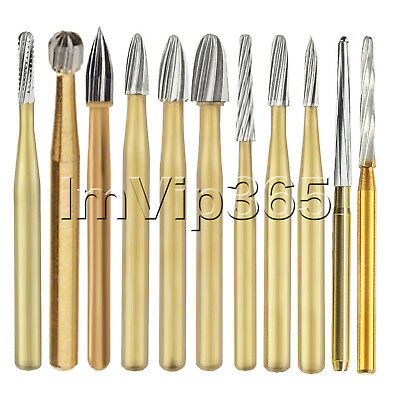 Dental Tungsten Carbide Burr Gold Burs FG 7408 7803 7901 7902 Zekrya Endo Z VIP