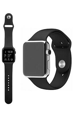 Recambio para Apple Watch 42mm 44mm Talla ML Serie Correa reloj silicona negra