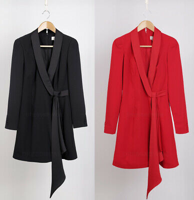 COAST NEW Black & Red Long Sleeve Tux Wrap Dress Sizes 6 to 18