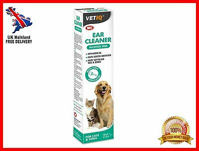100ml Pet/Dog/Cat Ear Cleaner Itchy/Odor/Gunk Natural Drops Yeast/Mite/Infection