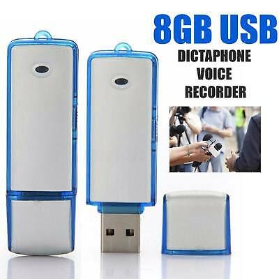 2 in 1-8GB USB Dictaphone Voice Recorder Listening Device Memory Stick
