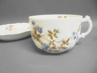 Two  Rarer Antique Russian Bone China Porcelain GARDNER Tea Cups & Saucers 1800s