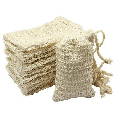 30 Pack Natural Sisal Soap Bag Exfoliating Soap Saver Pouch Holder H1D9