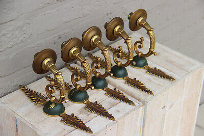 Set 5 French EMPIRE bronze Wall lights sconces