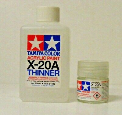 Tamiya Acrylic Thinner X-20A. 10ml or 250ml   Post combines with all paints