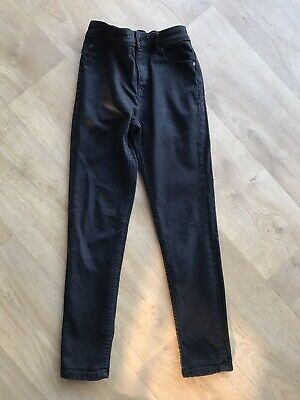 Next Boys Black Skinny Jeans Age 12 Years Adjustable Waist