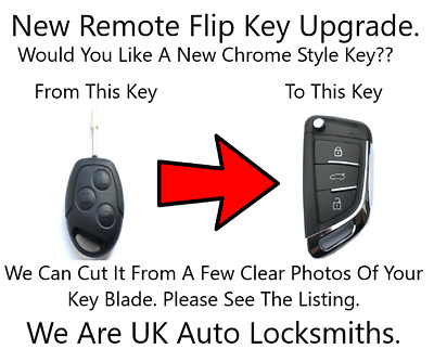 NEW Remote Flip Key Fob Upgrade Fits Ford Focus Mondeo Transit No Chip 433mhz