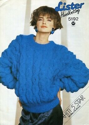 "Lister 5192 Lady Sweater Mohair 30-38"" Vintage Knitting Pattern"