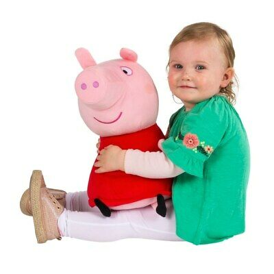 Peppa Pig Giant Talking Peppa Soft Toy Cuddle 20 Inch Soft Toy Pink NEW